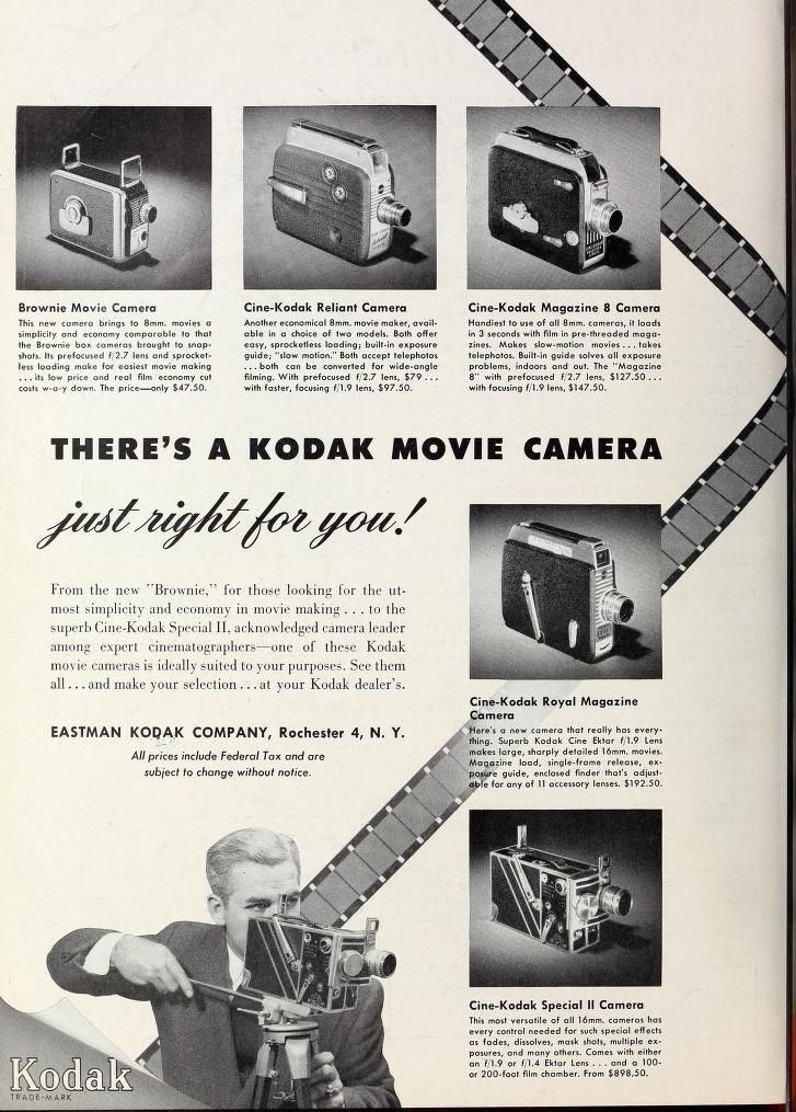 Ciné Kodak Brownie - Movie Maker Avril 1951