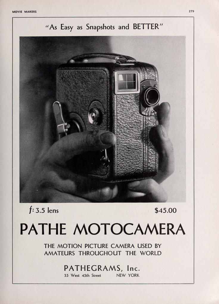 Pathé Motocamera - MOVIE MAKERS May 1931