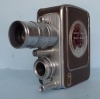American film camera by Bell & Howell, Model 172, with spring motor, from 1956