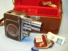 Bell & Howell FILMO AUTO-8 MOVIE CAMERA w/ Fitted Case, Paperwork