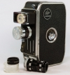 Vintage Bolex S8SL Single 8 Cine Camera. Case & Telephoto Lens. Working.