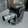 VINTAGE REVERE 8 MODEL B-63 8mm Movie Camera with two lenses