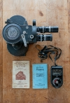 Vintage Antique Victor 16mm Cine Movie Camera Model 4 with case and light meter