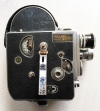 Vintage Bolex H16 16mm movie camera with two lenses