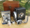 DeJur Electra 8mm Movie Camera, Bausch & Lomb and Wollensak Lenses, Bag