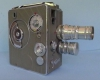 German film camera Cine Nizo 2x8 Model S2T with spring drive from 1950