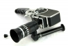 vintage BOLEX C8SL camera with Som Berthiot 10-30mm f2.8 zoom, grip & manual