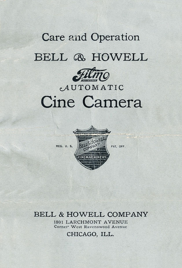 Filmo Automatic Cine camera user manual