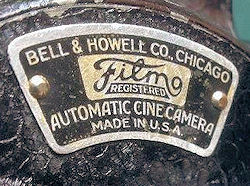 BELL & HOWELL Filmo 70-A Plaque