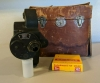 Vintage Bell & Howell Filmo 16mm 70 Film Cine Camera w/ Strap, Case, Film Box